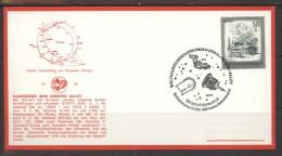 AUSTRIA Card Special Cancellation B2 002 Space Exploration History HALLEY Comet - FDC & Commémoratifs