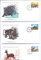 """Lesotho 331 - 333/34  """" FDC  WWF  -  1977 """" - Lesotho (1966-...)"""
