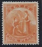 Colonie Anglaise, Nevis N° 10 * TB Signé - Grande-Bretagne (ex-colonies & Protectorats)