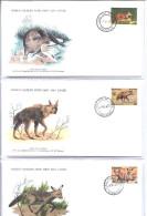 """Botswana  334-336-338    """" FDC  WWF  -  1977 """" - Botswana (1966-...)"""