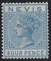 Colonie Anglaise, Nevis N° 27 * Côte 575€ Signé - Grande-Bretagne (ex-colonies & Protectorats)