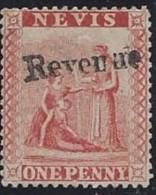 Colonie Anglaise, Fiscal, Nevis N° 1 * Surcharge Manuelle - Grande-Bretagne (ex-colonies & Protectorats)