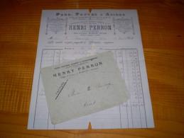 Romans Drôme : 1896 : Fers Fontes Aciers & Quincaillerie Henri Perron , Clouterie Pour Chaussures - Francia