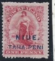 Niue - N° 4b * - Neuf Avec Charnière - Variété De Dentelure :14 * 14 ( N° SG : N° 46 ) - Niue