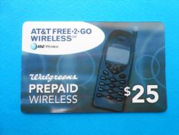 AT&T Free-2-go Wireless $25 ( Usa Prepaid Card ) GSM Remote Prepayee Carte - United States