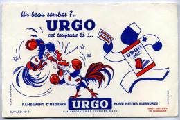 Buvard Pansement D'urgence URGO Plast - Un Beau Combat?.. URGO Est Toujours Là !.. - Produits Pharmaceutiques