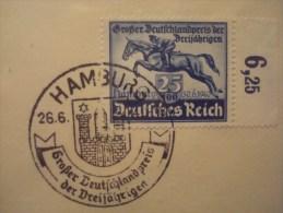 CHEVAUX . DERBY DE HAMBOURG 1940 ; REICH 671 Oblitéré - Pferde