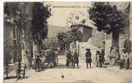 Cpa-Beaumont De Pertuis(84)-le Cours(animée) - Other Municipalities