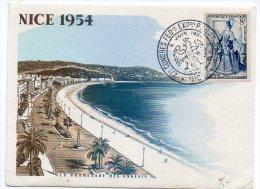 Oblitération Temporaire 'Congrès Philatélique' De Nice 1954 - Postmark Collection (Covers)