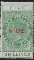 Niue - N° 32 * - Neuf Avec Charnière - ( N° 32 * Stanley Gibbons ) Variété : Chalk Surfaced - Niue