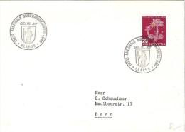 Brief Mit Zu 119 Mi 477 Mit Sonder-o ERSTE KANT.BM-AUSST.GLARUS 22.III.47 - Pro Juventute