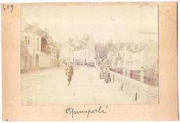 Dépt 29 - QUIMPERLÉ - Photographie Collée Sur Carton D´origine, 1904 - Photo - Quimperlé
