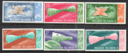 Maldive Islands 1966 - Space Rendevous Of Moon Landing SG191-196 MNH Cat £8.40 SG2015 - Maldivas (1965-...)