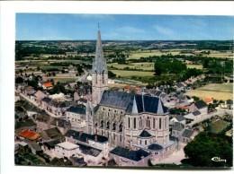 CP  - CARQUEFOU (44) VUE PANORAMIQUE AERIENNE DE L EGLISE - Carquefou