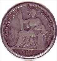 Indochine 20 cent 1909 0,900 au lieu 0,835