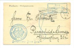 GERMANY 1931 POSTKARTE FROM GERMAN CONSULATE IN NEW YORK  TO REMSCHEID VIA BERLIN - Deutschland