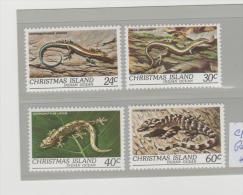 CH-IsMi.Nr146-49/ Reptiles 1981 ** - Christmas Island