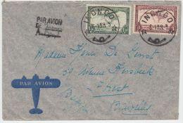 23210  PA 9 Et 10 S/L INONGO 6-10-39 Vers Bruxelles Gffe PAR AVION DE Inongo A Bxl - Congo Belge
