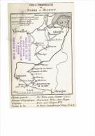 Carte Géographique - Voies De Communication PARIS à BLIGNY - Oeuvre Des Sanatorium Sanatorium - Landkarten