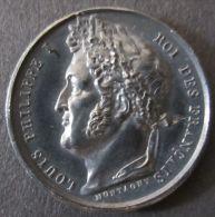 AG01776 LOUIS PHILIPPE I ROI Des FRANçAIS - Son Profil - MUSEE De VERSAILLES - 1837 (Ag 6.9g) Allégories Au Revers - Royal / Of Nobility