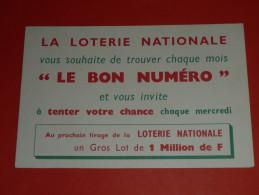CPM, Carte Postale, Publicitaire, Pub La LOTERIE NATIONALE, Le Bon Numéro, LOTO, Gros Lot - Pubblicitari