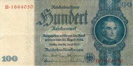BILLET DE 100 REICHSMARK 24 JUIN 1935 SERIE B - [ 4] 1933-1945: Derde Rijk