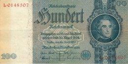 BILLET DE 100 REICHSMARK 24 JUIN 1935 SERIE L - [ 4] 1933-1945 : Troisième Reich