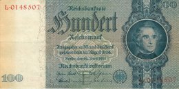 BILLET DE 100 REICHSMARK 24 JUIN 1935 SERIE L - [ 4] 1933-1945: Derde Rijk