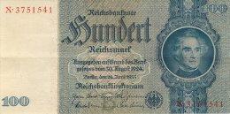 BILLET DE 100 REICHSMARK 24 JUIN 1935 SERIE X - [ 4] 1933-1945 : Troisième Reich