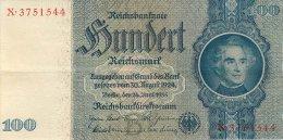 BILLET DE 100 REICHSMARK 24 JUIN 1935 SERIE X - [ 4] 1933-1945: Derde Rijk