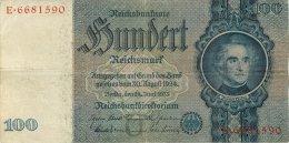 BILLET DE 100 REICHSMARK 24 JUIN 1935 SERIE E - [ 4] 1933-1945 : Troisième Reich