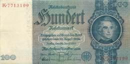 BILLET DE 100 REICHSMARK 24 JUIN 1935 SERIE K - [ 4] 1933-1945 : Troisième Reich