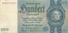 BILLET DE 100 REICHSMARK 24 JUIN 1935 SERIE N - [ 4] 1933-1945 : Terzo  Reich