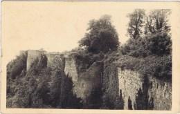 cpa  COUCY LE CHATEAU le chateau enceinte sud
