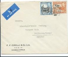 CHYPRE LETTRE POUR L'ALLEMAGNE 1950 - Cyprus (Republic)