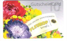 Germany - Allemagne - Fleurop - Carte Cadeau - Carta Regalo - Gift Card - Geschenkkarte - Flower - Blumen - Tarjetas De Regalo