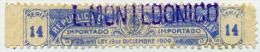 URUGUAY Revenues, Fiscaux Fiscales, Impuesto Sobre Consumo, 3 Cent.1900 - Uruguay