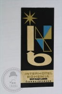 Interhotel Bohemia - Czechoslovakia - Original Hotel Luggage Label - Sticker