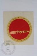 Stop Motel Praha - Czechoslovakia - Original Hotel Luggage Label - Sticker