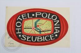 Hotel Polonia Slubice, Poland - Original Hotel Luggage Label - Sticker