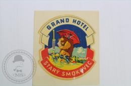Grand Hotel Stary Smokovec, Slovakia - Original Hotel Luggage Label - Sticker