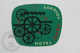 Hotel Ohre, Sokolov - Czech Republic - Original Hotel Luggage Label - Sticker