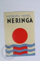 Viesbutis Hotel Neringa - Lithuania - Original Hotel Luggage Label - Sticker