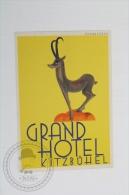 Grand Hotel Kitzbuhel - Austria - Original Hotel Luggage Label - Sticker