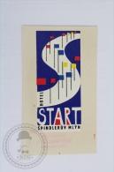Hotel Start Spindleruv Mlyn - Czechoslovakia - Original Hotel Luggage Label - Sticker