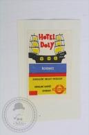 Hotel Doly, Rehenice - Czech Republic - Original Hotel Luggage Label - Sticker