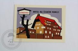 Hotel Na Ceskem Pomezi, Cinovec - Czech Republic - Original Hotel Luggage Label - Sticker