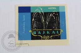 Hotel Bajkal - Bulgaria - Original Hotel Luggage Label - Sticker