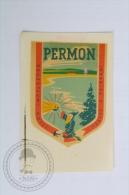 Hotel Permon, Vestec u Pribrami, Czech Republic - Original Hotel Luggage Label - Sticker
