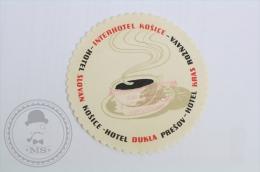 Hotel Slovan Kosice, Slovakia - Original Hotel Luggage Label - Sticker